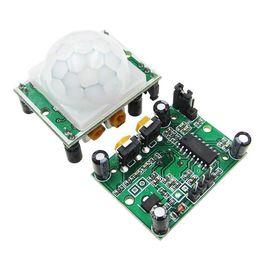 5 pezzi Mini IR Piroelettrico a Infrarossi PIR Modulo Rivelatore Sensore Movimento Corpo Umano ILS