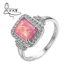 Wholesale Opal Rings Sale - whole saleSilver Plated Pink Fire Opal Ring for Women Fashion Style Hot Sale Jewelry Gift for Friend R215