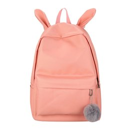 yellow rabbit ears Coupons - Fashion Backpack Rabbit Ears Schoolbag Women Casual Travel School Backpack for Girls sac a dos femme bagpack mochilas mujer 2018