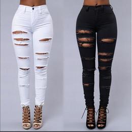 Rabatt Frauen Zerrissen Skinny Jeans | 2019 Schwarze