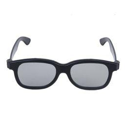 Wholesale lens 3d blue - 5 Pairs of Adults Passive Circular Polarized Lens 3D Glasses - Black