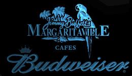 Signos margaritaville online-LS1920-b-Jimmy-Buffett -Margaritaville-Budweisers-Bar-Neon-LED-Light-Sign Decor Envío gratis Dropshipping Venta al por mayor 8 colores para elegir