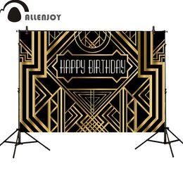 Великолепные фото онлайн-Allenjoy фон Великий Гэтсби день рождения взрослые дети партия черный золотой баннер фотостудия baby shower фотоколл