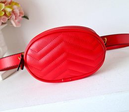 Wholesale Fanny Pack Shoulder Bag - 12 colors new designer purse wallet chain bag designer shoulder bags women straps designer handbags pu and flannelette waist bag Fanny pack