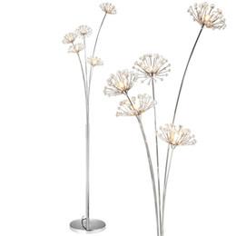 Canada Nouvelle lampe de sol en cristal moderne pour salon fleur décorative LED lampes en acier debout chambre classique lumière par designer Italie supplier crystal led light stands Offre