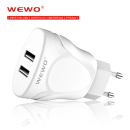Wholesale Protection Plug - Phone Charger 5V 2.1A EU Plug 2 Ports USB Chargers Fast Charging Built-in Intellignet Chip Overload Protection For iPhone 8 X SAMSUNG