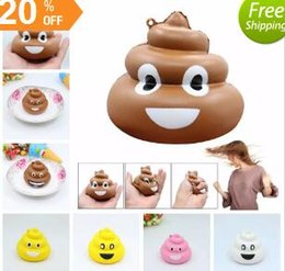 Wholesale Family Cell - Squishy Poo Family Emoji Pendant Fun Emoticon Slow Rising Jumbo Cartoon Pendant Squeeze Cell Phone Strap Stress Reliever Kids Toy AAA143