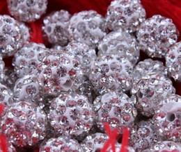 Wholesale Loose Cz - 200pcs lot 10mm shamballa mix color Micro Pave CZ Disco Crystal Shamballa Bead Bracelet Necklace Beads.good Rhinestone DIY loose spacer DIY