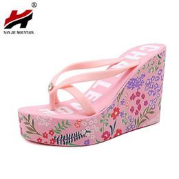Wholesale New Style Sandals For Women - 2017 New Ultra High Heels Beach Slippers Summer Style Wedge Platform Sandals for Women Huarache Flip Flops Woman Shoes