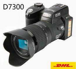 novas filmadoras profissionais Desconto DHL Livre 33MP D7300 Câmera Digital HD Filmadora Câmera DSLR Lente Grande Angular 24x Lente Do Telescópio Óptico D3300 Atualizado a Versão nova