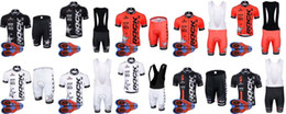 Ciclismo jersey roccia online-Maglia manica corta ciclista 2018 Rock Racing Cycling Summer Style con bretelle imbottite in gel 9D set D1797
