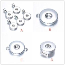 Argentina 4 estilos 18 mm a presión botón base para bricolaje jengibre snap botón collar pulsera pendientes accesorios de la joyería Suministro
