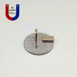 Wholesale neo magnets - 100pcs N35 10*5*1mm permanent magnet 10*5*1 super strong neo neodymium block 10x5x1 NdFeB magnet 10x5x1mm with Nickel coating