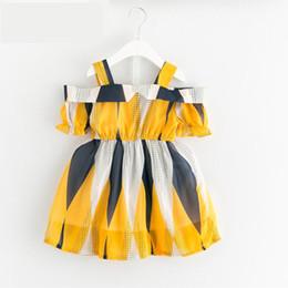 Argentina Vestido de las muchachas del bebé Nueva impresión del verano Piña Lino manga corta O-cuello Blet de algodón Vestidos para niñas Ropa de los niños Suministro