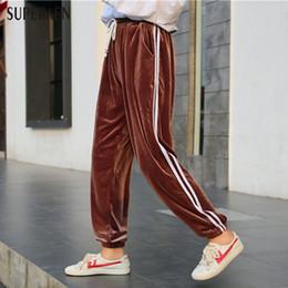 Wholesale Korean Fashion Pants For Women - 2017 Autumn New Women Long Pants Korean Sytyle Loose Casual Women Harem Pants Cotton Fashion Wild Lace for