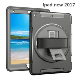 Wholesale Apple Ipad New - for 2017 new iPad pro 10.5 9.7 ipad air 2 mini 4 Kickstand 360 Degree Rotable Tote Hand Strap Shockproof Case