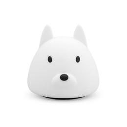 Canada Changement de couleur Rechargeable Silicone chien Night Light enfants Animal Night Light Respiration LED cheap animal rechargeable night lights Offre