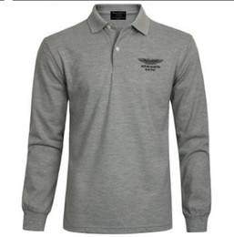 Argentina Ropa de la marca 2018 caliente polo del bordado de los hombres qulity Polos hombres camiseta de manga larga de algodón s-ports jerseys Plus M-4XL caliente de la venta cheap polo jerseys Suministro