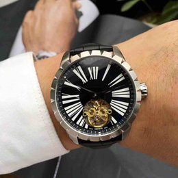 Wholesale Automatic Machine Products - 2018 new product big flywheel men's wrist watch fully automatic machine core stainless steel large-size dial AAA+ quality.