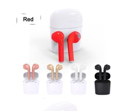 Wholesale Iphone Charging Wire - HBQ I7S TWS Headphone Twins Earphone Stereo for Apple iPhone i7 Android Samsung Apple 4.2 Bluetooth Wireless Headset with Mic Charging box