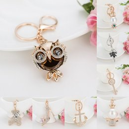 Wholesale high heels keychains - Elegant Full Crystal High Heels Keychain Chic Key Ring Key Holder For Women Fashion Pendant Accessory Gift 8 Styles Free DHL G303Q