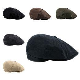 Octagonal Golf Cap Women Men Cotton Harden Brim British Style Adjustable  Outdoor Hat Head Wear Sportswear Riding Running Fishing 466156195e62