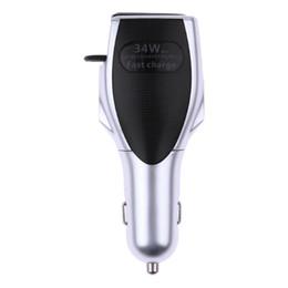 2019 auriculares bluetooth más rápidos Auricular inalámbrico Bluetooth 4.1 Auricular + QC3.0 Cargador de carga rápida para el automóvil Adaptador de cargador USB para el peinado del automóvil rebajas auriculares bluetooth más rápidos