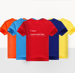 Wholesale T Shirt Advertising - Class clothing custom T-shirt adult children's pure cotton T-shirt advertising shirts custom round collar short-sleeved work clothes print