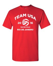 escarpadas teléfonos celulares a prueba de agua Rebajas Equipo de waterpolo EE. UU., Estados Unidos, América Rio, camiseta para hombre 1474 Divertido envío gratis Unisex Casual tee regalo