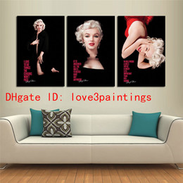 Wholesale marilyn monroe abstract paintings - Marilyn Monroe -1,3 Pieces Home Decor HD Printed Modern Art Painting on Canvas (Unframed Framed)