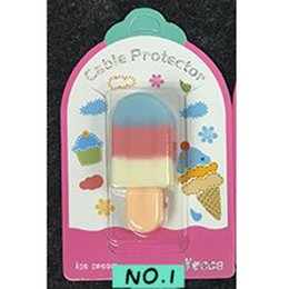 Iphone usb laden kabel farben online-6 Farben Ice Cream Cable Protector Silikonhülle für USB Datum Charing Kabel iPhone 8 7 6 s 5 Ladekabel