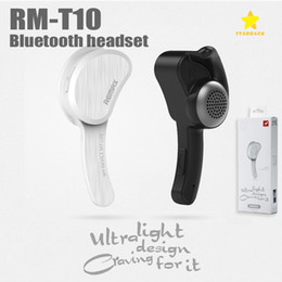Wholesale Noise Canceling Bluetooth Headsets - Remax RB-T10 Wireless Bluetooth Earphone Stereo Earbuds Handsfree Handset Noise Canceling with Mic with Retail Package