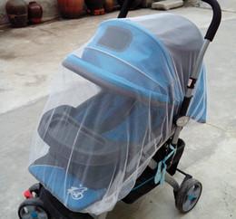 Mosquiteiro para bebês ao ar livre on-line-2018 Nova Moda 150 * 150 cm Ampliar Baby Cart Mosquito Net Infantil 5 Cores Cobertura Completa Mosquito Net Evitar Mosquitos Poeira
