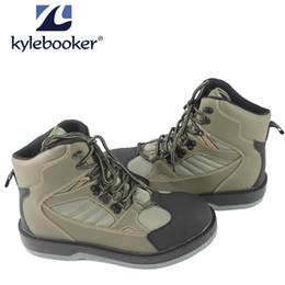 KyleBooker Pesca con Mosca Waders Boot Zapatos impermeables transpirables Caza al aire libre Botas de vadeo antideslizante KBFSAA desde fabricantes