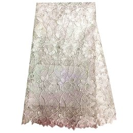 Wholesale Swiss Embroidery Lace Fabric - Purple Hot 2016 Women Embroidery African Cord white Swiss Voile Switzerland French Nigerian Lace Fabrics High Quality