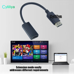 Wholesale Mini Hdmi Composite Video - DisplayPort DP to HDMI Video Cable Male to Female Connector Adapter for PC Apple Mac Macbook with Packing
