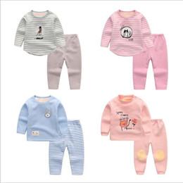 ba75a0826a461 Pyjama bébé ensemble enfants épaississent sous-vêtements hiver chaud  pantalon 2 pcs costumes mignons Homewear tenues enfants vêtements de marque  YL714 ...