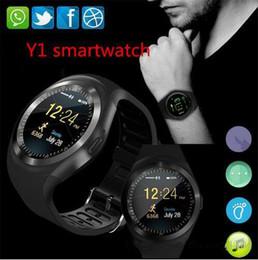 Montres tactiles bon marché en Ligne-Nouvelle Arrivée Y1 smart montres Pas Cher Ronde Écran Tactile Rond Visage Smartwatch Téléphone avec Carte SIM Slot montre intelligente pour IOS Android