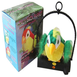 Wholesale Bird Wings - 2017 Waving Wings Talking Talk Parrot Imitates & Repeats What You Say Gift Funny Toy Dropship Y119