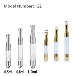 Cartuccia di olio di alta qualità G2 all'ingrosso 0.5 / 0.8 / 1.0 ml capacità G2 penna a vape cartuccia punte a goccia WAX olio denso vaporizzatore Atomizzatori CE3 O da punta di cera all'ingrosso di cotone fornitori