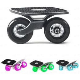 Wholesale Drift Skate Board - Wholesale-2017 Portable Drift Board For Freeline Roller Road Driftboard Skates Anti-skid Skate board Skateboard Sports patines 4 ruedas