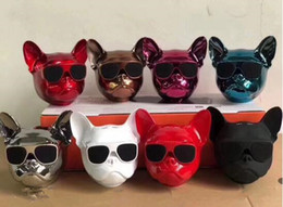 Wholesale Phones Computer Sales - The big dog head bluetooth speaker phone computer wireless low sound gun card stereo factory direct sale
