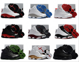 Wholesale toddlers red shoes - Boys Girls 13 Kids Basketball Shoes Childrens 13s 13 14 DMP Pack Playoff Sports Shoes Toddlers Birthday Gift Youth Kids Sports 28-35