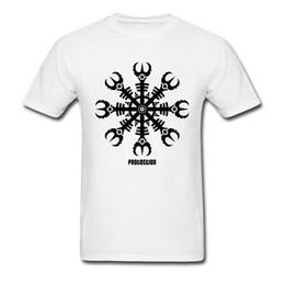 La novità adulta migliore online-Helmet of Awe Amulet Symbol Maglietta per adulti Father Day Best Gift Aegishjalmur New 3D Novelty Design Uomo T-shirt oversize
