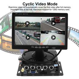 2019 macchina fotografica split 7 pollici Quad Split screen Monitor 4x laterale Vista posteriore CCD Camera System Adatto per camion dell'automobile rv CMO_52L sconti macchina fotografica split