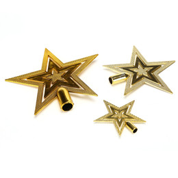 Wholesale Christmas Tree Star Top - 1Pc Christmas Tree Top Decoration Star Topper For Home House Table Topper Decor Accessories Ornament Christmas Decor Supplies