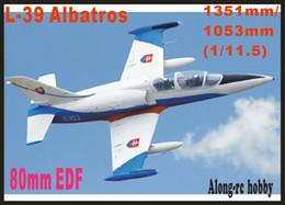 Kits de avião modelo elétrico on-line-Freewing NOVO Elétrico rc jet avião 80mm edf L-39 Albatros avião 6 s PNP ou kit retrátil avião MODELO HOBBY