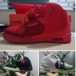 zapatos deportivos al aire libre gris Rebajas Kanye west Nike Yeezy 2 Red October zapatos de baloncesto para hombre Wolf Gray Black Solar zapatillas de deporte rojo 2 NRG white outdoor athletic designer athletic