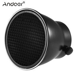 Wholesale Strobe Light Godox - Andoer 96mm Reflector Diffuser Lamp Shade Dish with 60 degree Honeycomb Grid for Godox Neewer Strobe Flash Light Speedlite