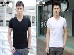 2018 Modal nuevos hombres camisetas delgadas para hombre con cuello en v manga corta camiseta 12 color elegir mezclar orden 2519 desde fabricantes